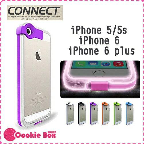 *餅乾盒子* 發光殼 附線 充電線 iphone5 iphone5s iphone6 plus 手機殼 透明殼 軟殼 手機套 保護套 保護殼