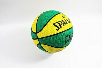 【陽光樂活】特價 只有一顆 SPALDING 斯伯丁 NBA 迷你小籃球 橡膠 NO.1 黃綠配色 #1 SPA66994