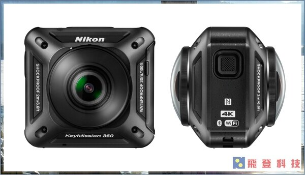 【360度相機】Nikon KeyMission 360 4K 30米防水  運動防水攝影機 全景攝影機 公司貨