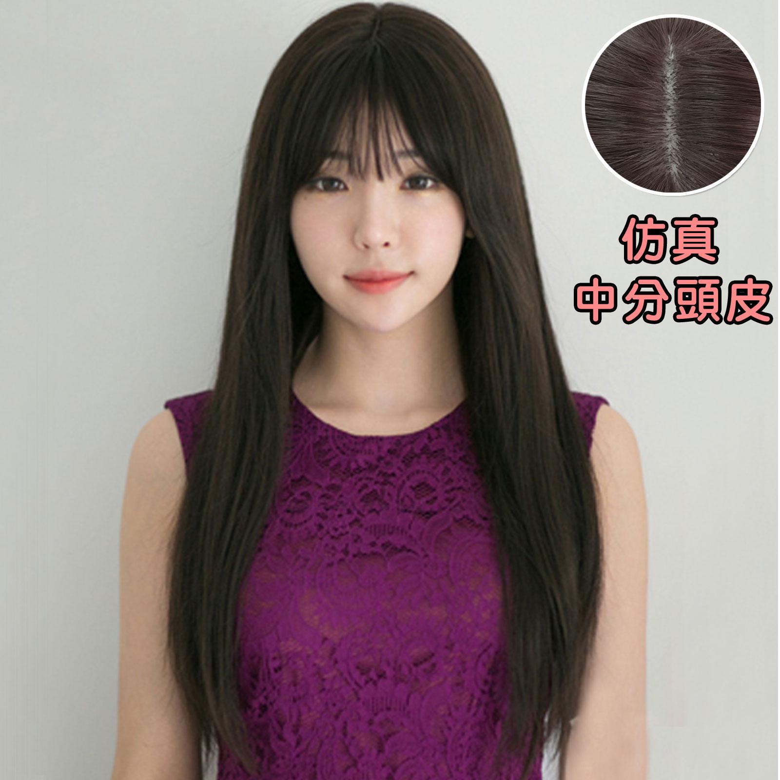 韓系 空氣瀏海 長微彎假髮(加大頭皮)【MA212】高仿真整頂假髮☆雙兒網☆ 0