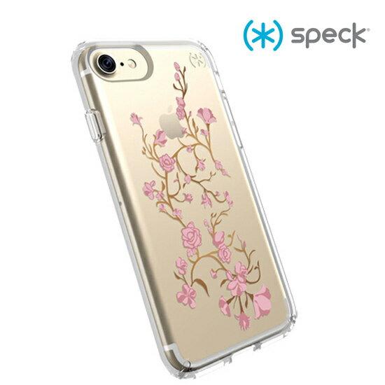 【愛瘋潮】Speck Presidio Clear + Print iPhone 7 粉/金色花朵透明防摔保護殼 手機殼