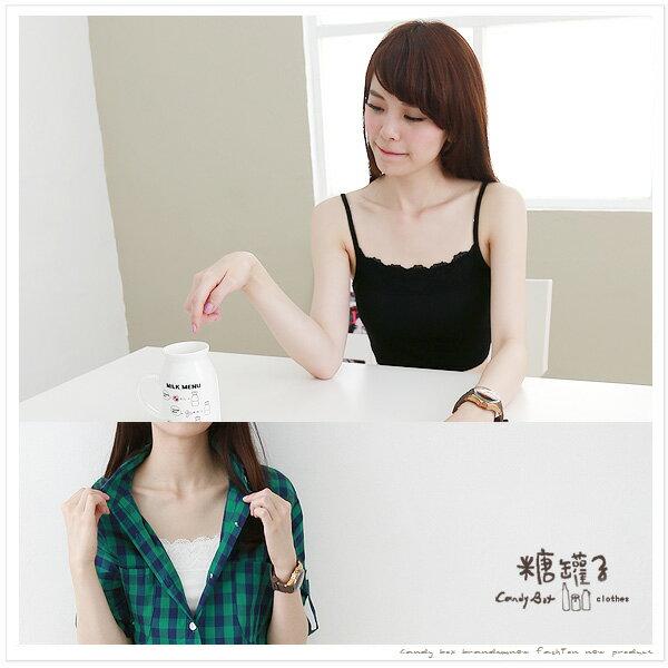 糖罐子綁繩罩杯細肩蕾絲小可愛背心→預購【E23277】 1
