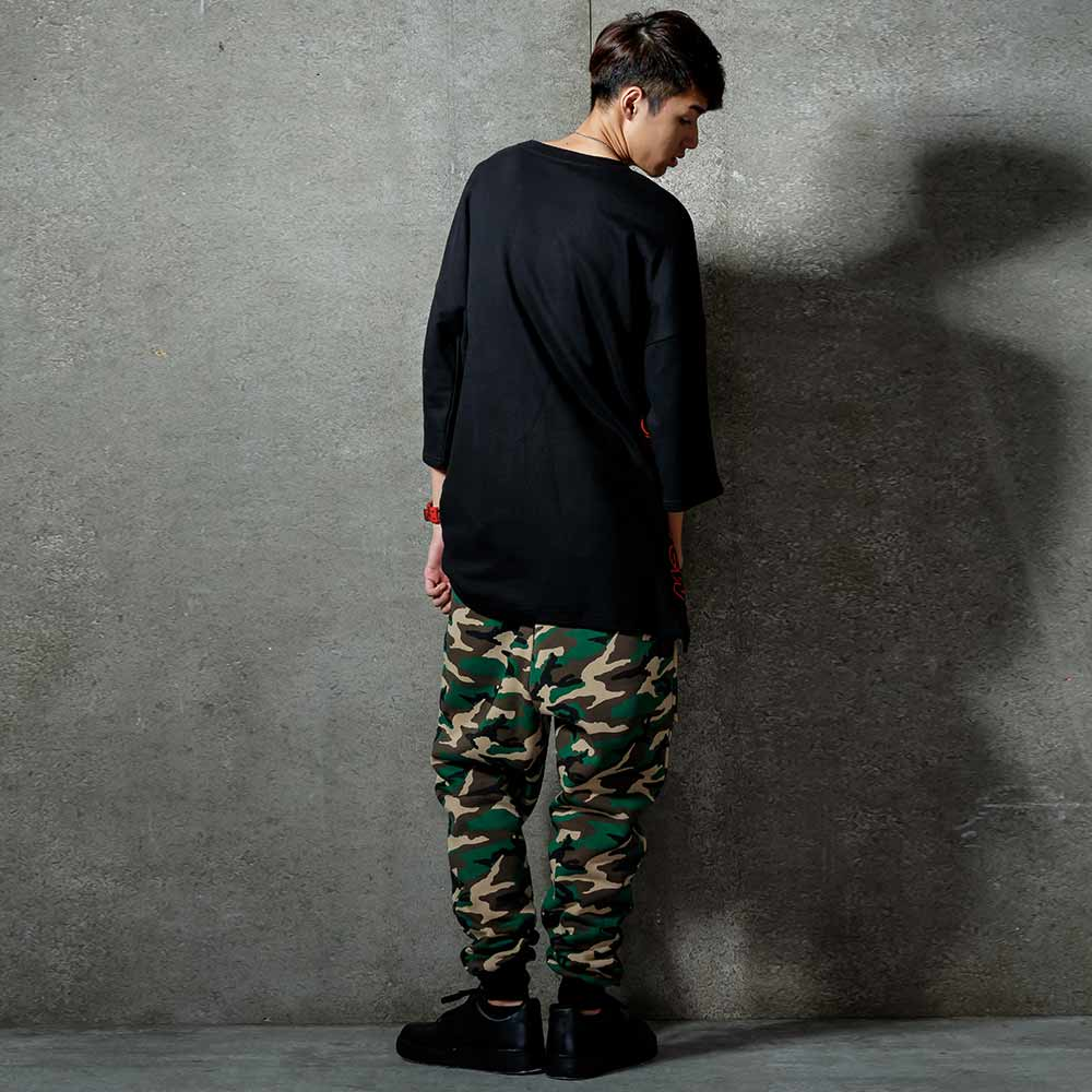 STAGE SEE RED SWEATPANTS 軍綠迷彩色 1