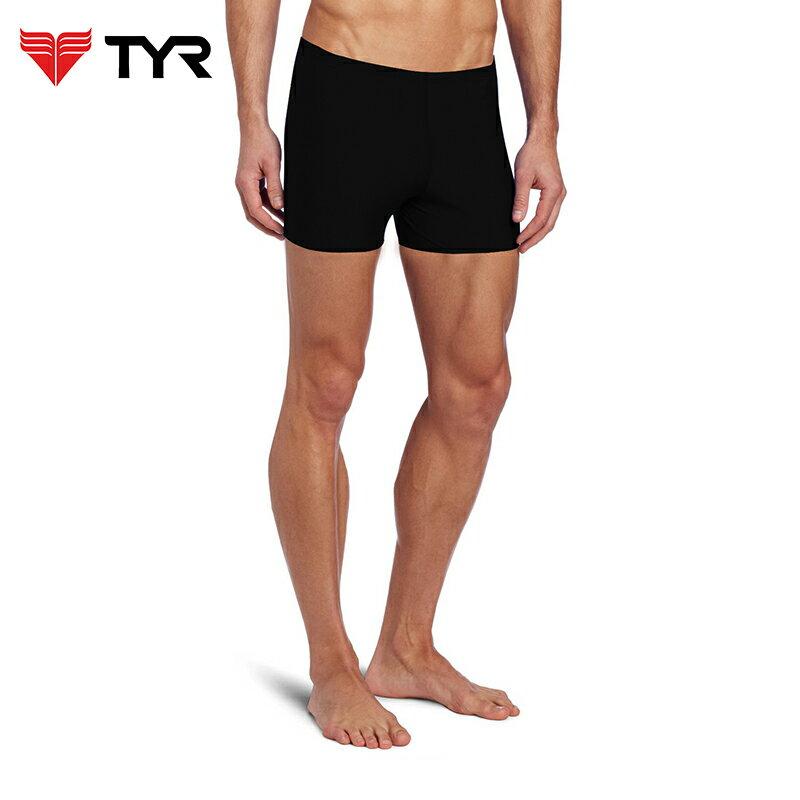 美國TYR男用四角黑色訓練款泳褲Solid Boxer Trunk 台灣總代理 - 限時優惠好康折扣