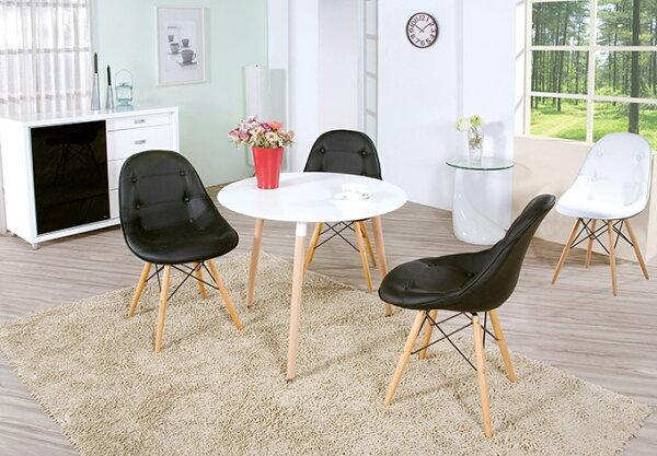 【尚品傢俱】HY-A422-01 北歐簡約2.7尺圓桌