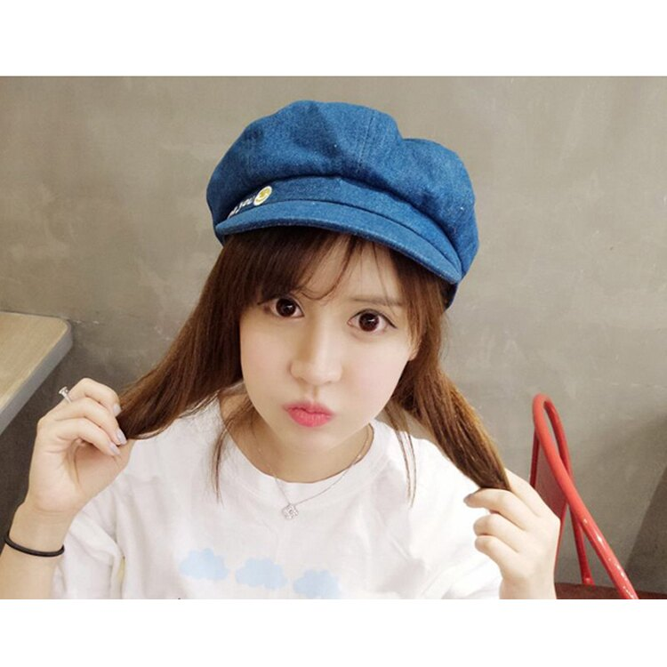 貝雷帽 畫家帽 笑臉 八角帽 遮陽 貝雷帽【QI8507】 BOBI  09/01 1