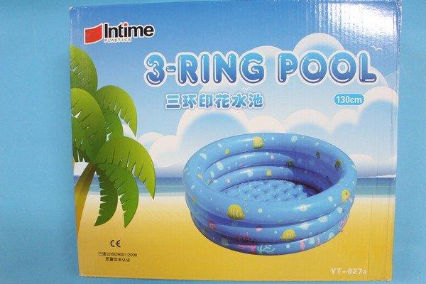 幼兒充氣水池 直徑130cm 三環圓形戲水池 YT-027A 兒童游泳池/一個入{促800}~YF4275