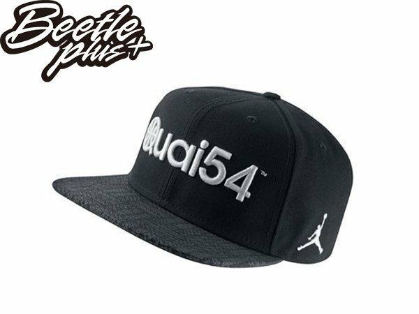 BEETLE NIKE AIR JORDAN QUAI 54 歐洲限定 街頭 籃球 後扣棒球帽 黑白 SNAPBACK 0