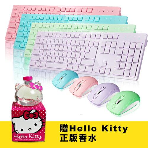 [送香水] i-Rocks IRK01RP 2.4GHz無線馬卡龍鍵盤滑鼠組