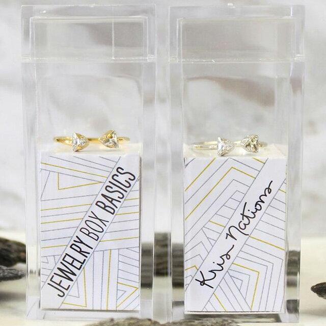 【海外訂購品】【Kris Nations】Angel Fire 雙水晶戒指 銀色版(R213-S  0823000000) 2