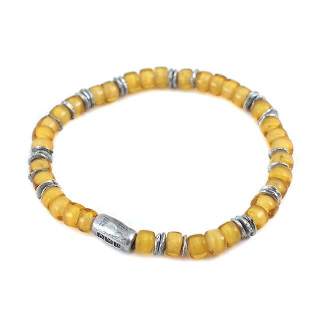 【海外訂購】【amp japan】White Heart 黃色玻璃珠手環(AMP-14AH-440BR  0782910000) 1