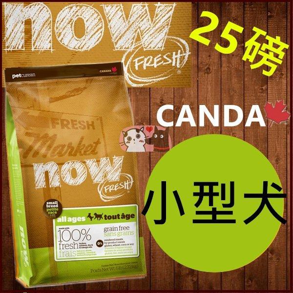 送200+貓狗樂園+ 加拿大NOW【鮮肉無穀天然糧。小型犬配方。25磅】3500元 0
