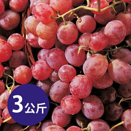 【台北濱江】智利紅地球葡萄 3KG裝