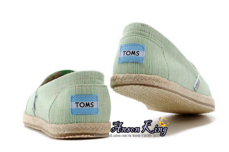 [女款] 國外代購TOMS 帆布鞋/懶人鞋/休閒鞋/至尊鞋 亞麻系列 亞麻底絲紋 綠 3