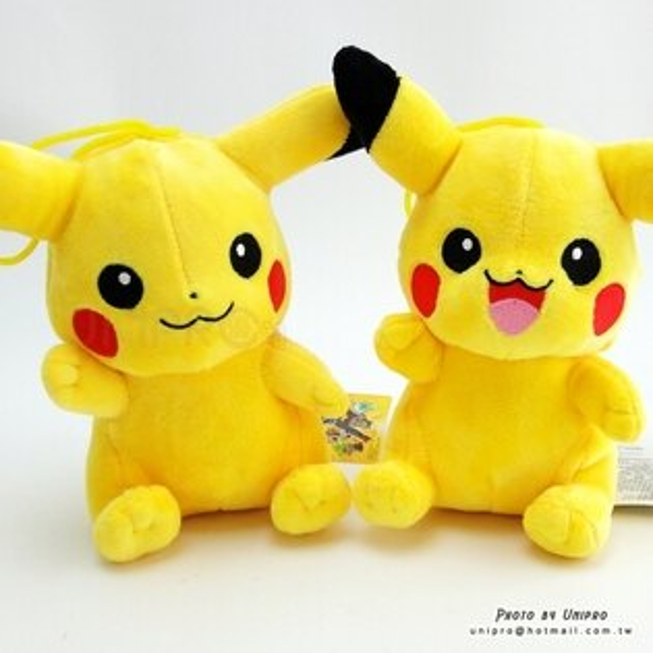 【UNIPRO】神奇寶貝 皮卡丘 Pikachu 16公分 吊繩 絨毛娃娃 玩偶 Pokemon Go 禮物 正版授權