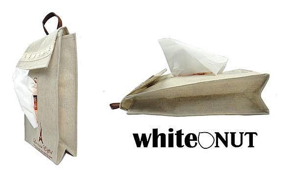 日式風格掛式麻布面紙套