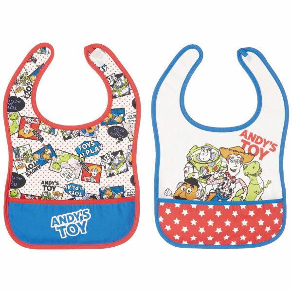 日本 【迪士尼 Disney 】玩具總動員寬版圍兜兜(2件組) 1