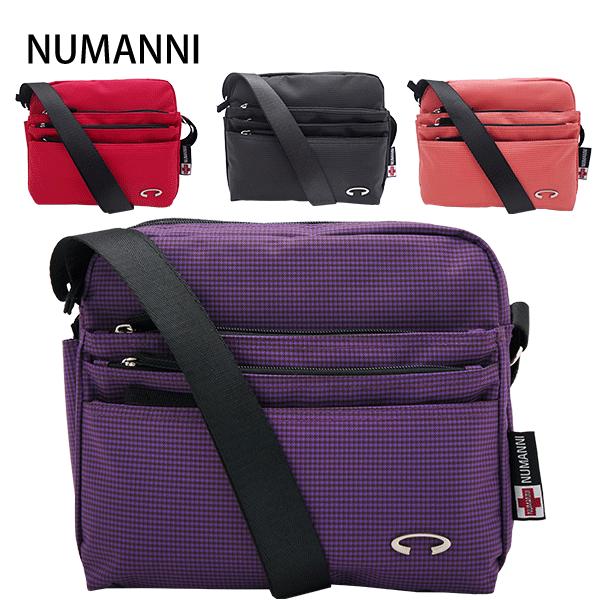 25-7807A【NUMANNI 奴曼尼】新材質多口袋亮彩側背包 (四色)