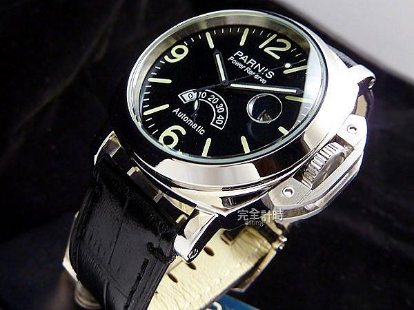 【完全計時】手錶館│PARNIS瑞典軍錶風 動力儲存40HR 自動機械錶 PA3008 禮物 43mm l 現貨
