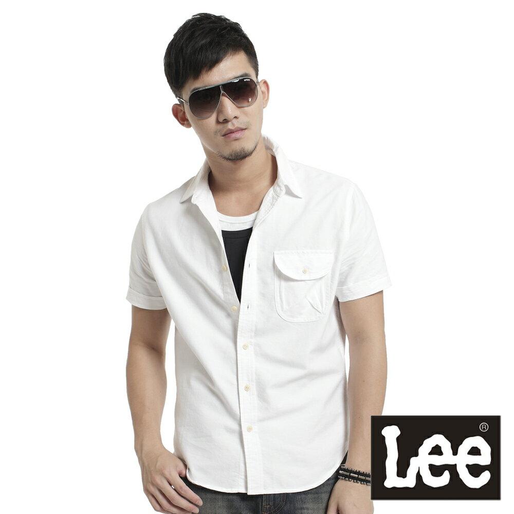 Lee 短袖格紋襯衫