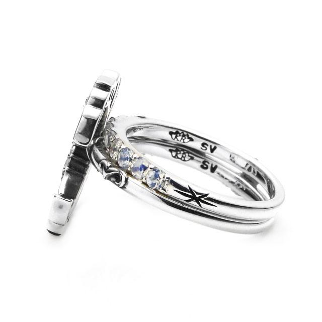 【現貨商品】【KONRON】新月許願寶石純銀戒指 (KRBCR1027) 2