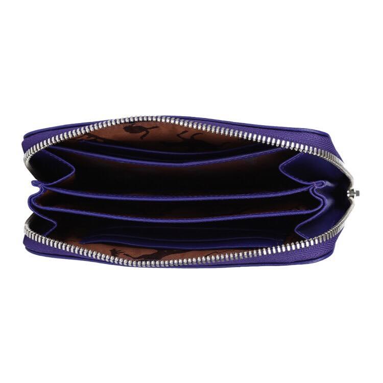 【LONGCHAMP】 Le Pliage Cuir系列小羊皮手拿/零錢包(深藍) 3