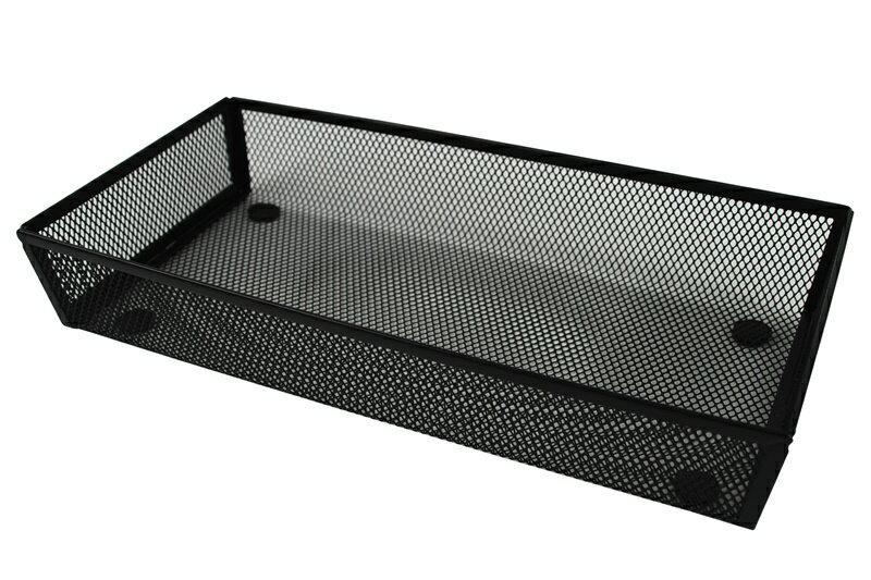 【凱樂絲】辦公室,書房,居家抽屜收納整理籃(大,中,小3件組) - 黑色網狀設計 3