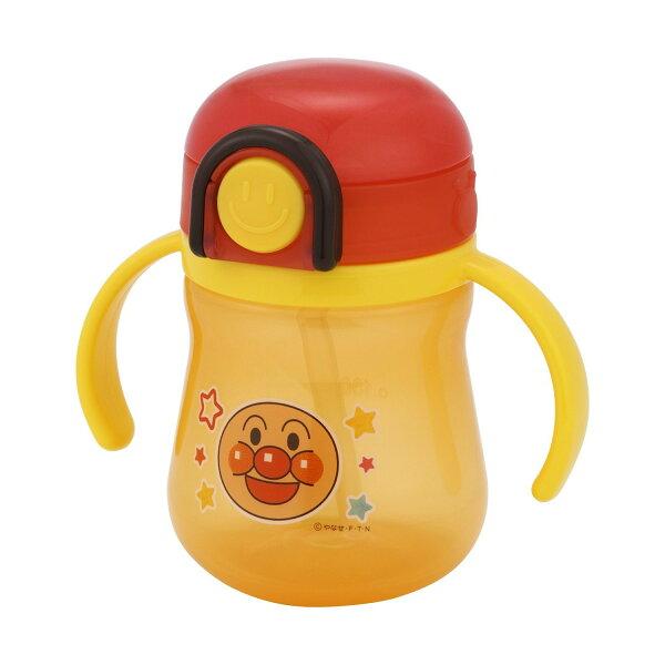 日本 Anpanman 麵包超人 彈跳 雙耳 吸管 水壺/水杯/學習杯