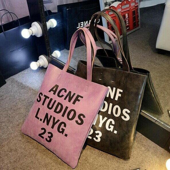 Anne  Alice包包購^~日系原宿文字托特包側背包休閒包 包^~ ~  好康折扣