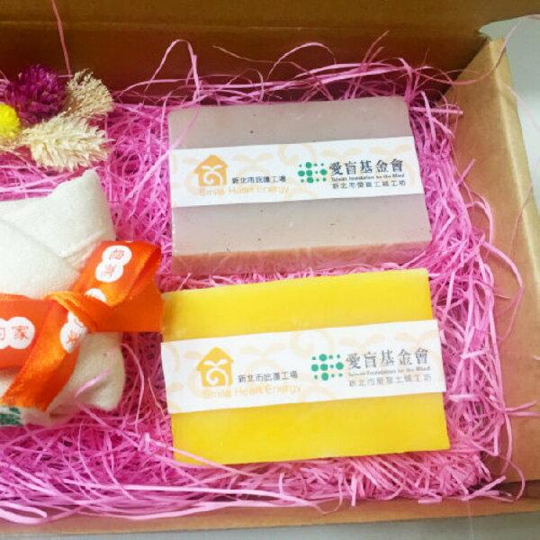 【愛盲土城工坊】玫瑰巾手工皂禮盒★新北市庇護工場