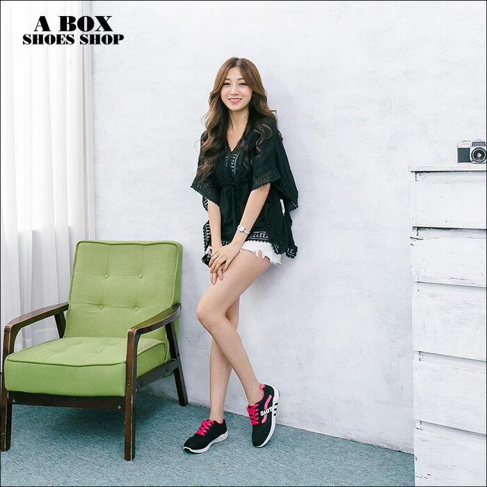 格子舖*【ASB-3】*限時免運*嚴選簡單時尚韓版布面撞色 綁帶運動休閒鞋 帆布鞋 2色 1
