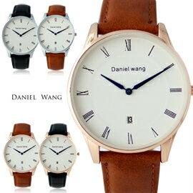 Daniel Wang DW-3140 文青質感極簡風中性皮革錶 0