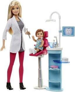 《★美國芭比 Barbie》芭比職業系列 - 牙醫遊戲組 美國代購 溫媽媽