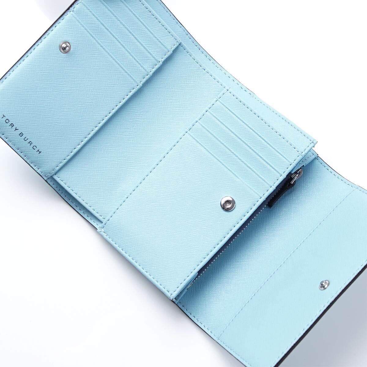 【Tory Burch】防刮簡約設計大容量中夾(黑/粉/藍) 1