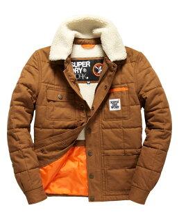 [男款] 英國代購 極度乾燥 Superdry Redford 男士風衣戶外休閒外套夾克 防水 防風 保暖 棕褐色