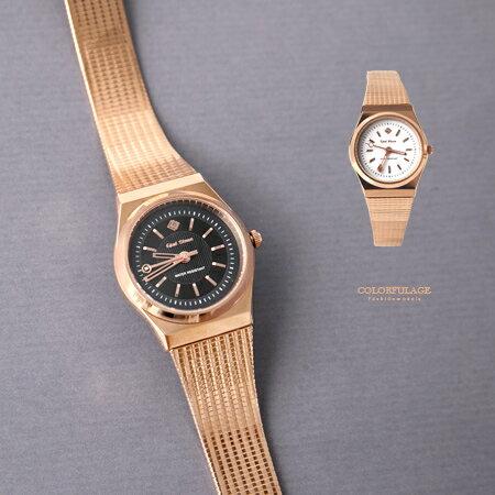 手錶 現代都會時尚玫瑰金質感鋼索女腕錶 簡約刻度設計 可調式錶帶 柒彩年代【NE1889】單支售價 - 限時優惠好康折扣