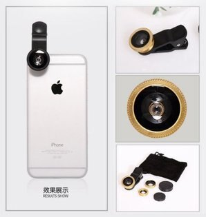 三合一手機鏡頭 五色 魚眼&廣角&微距鏡頭  蘋果安卓手機通用 新店家衝評價只要79 保證網路最低【Parade.3C派瑞德】