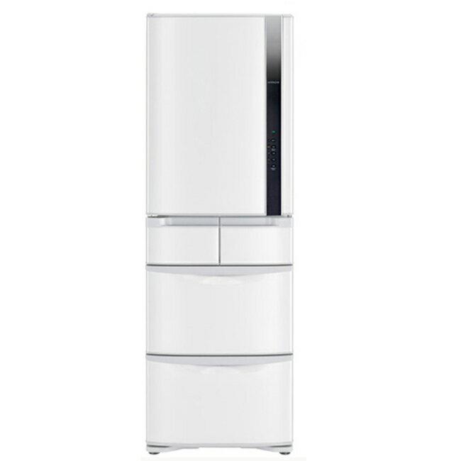 ~ 12月底到貨~~日立HITACHI~ 變頻420L~左開五門電冰箱~星燦白^(RS42