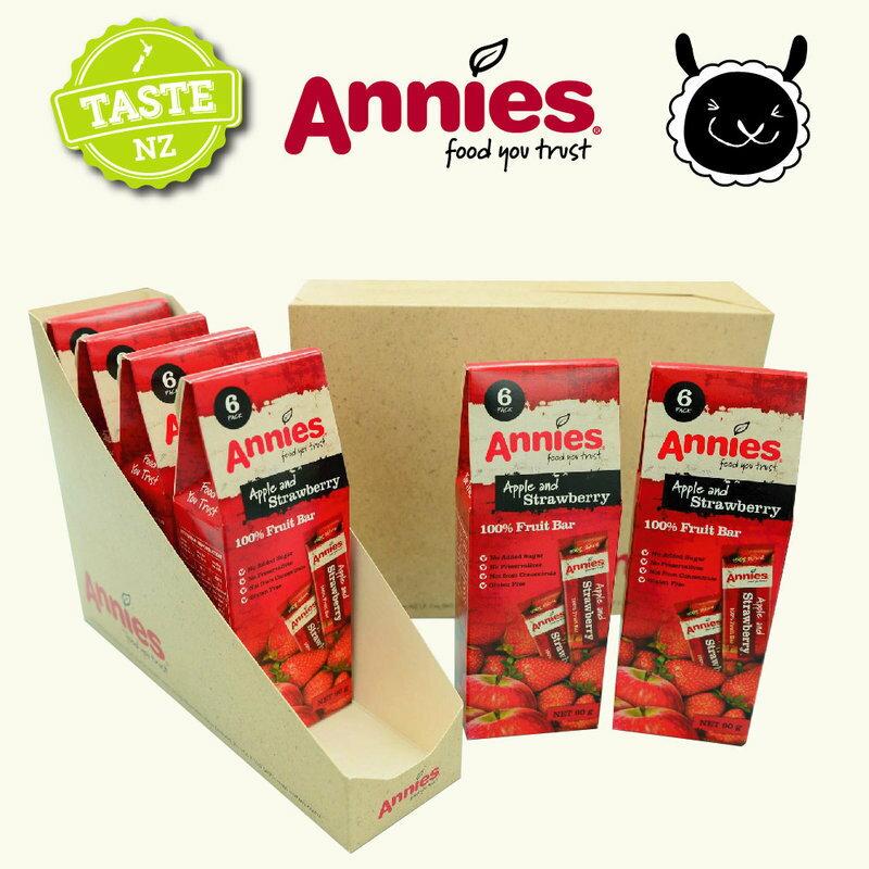 【壽滿趣- 紐西蘭原裝進口】Annies 全天然水果條(草莓6盒, 36片家庭裝) 0