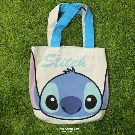 手提包 正版迪士尼Disney系列帆布購物袋/便當袋 米老鼠/史迪奇/維尼 柒彩年代【NS2】輕巧可水洗 0