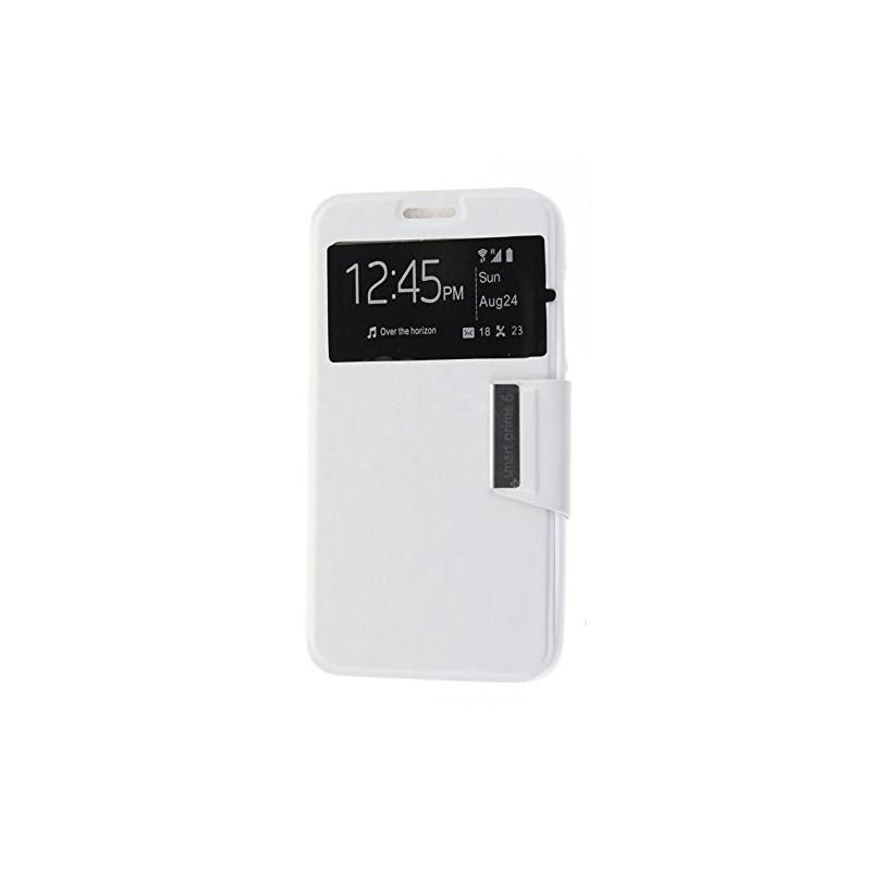 Funda CUERO Tipo LIBRO VENTANA Stand Vodafone Smart Prime 6 / Alcatel One Touch Pop 2 (5) 6