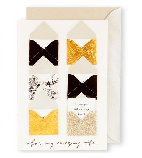 剪刀石頭紙 ~Signature 系列 週年卡~獻給我親愛的老婆,結婚週年快樂 ~  好康