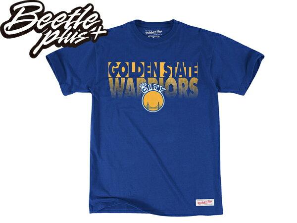 BEETLE MITCHELL&NESS NBA WARRIORS 美國職籃 舊金山 金州 勇士 CURRY 柯瑞 咖哩 藍黃 總冠軍 短T TEE 0