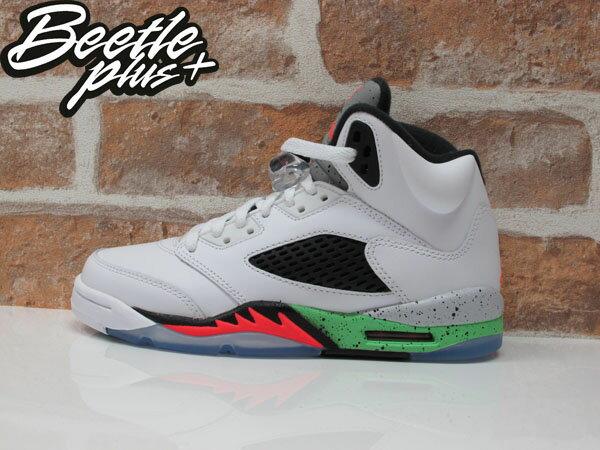 BEETLE PLUS AIR JORDAN V SPACE JAM 5代 3M 反光 大童鞋 女鞋 怪物奇兵 毒液綠 白綠 白黑紅 籃球鞋 流川楓 440888-115 0