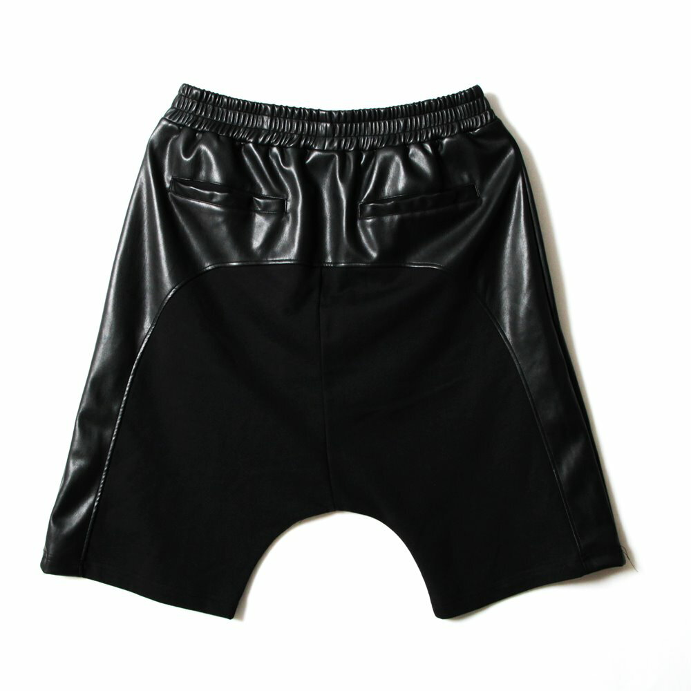 STAGE  BLACK LEATHER SHORTS  黑色 5