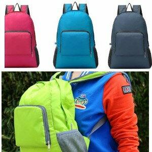 美麗大街【BK022102】可收納糖果色休閒帆布包 後背包