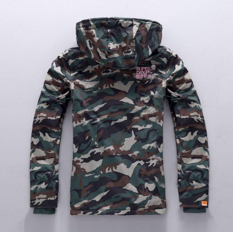 [女款]outlet正品 代購 英國極度乾燥 Superdry Arctic 女款 休閒三層拉鍊連帽保暖防風外套 迷彩/粉色 1