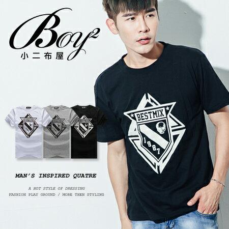 ☆BOY-2☆【ND5475】短袖T恤型男潮流美式素面骷髏星星印花短T 0
