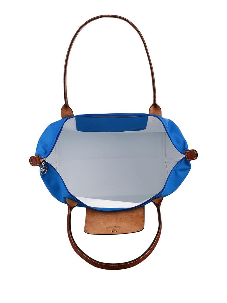 [2605-S號] 國外Outlet代購正品 法國巴黎 Longchamp 長柄 購物袋防水尼龍手提肩背水餃包 佛青藍 3