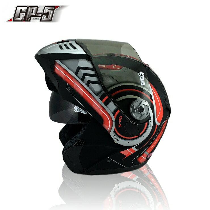 【頑騎】免運費【GP-5】全罩式可掀式安全帽(汽水帽 可樂帽) 722戰警 雙層鏡設計 台灣製造 共7色 0